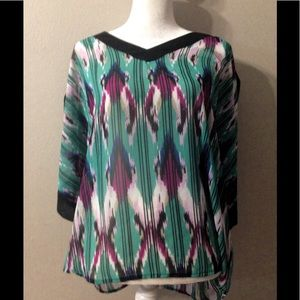 Dana Buchanan boho tribal with peeking arms top